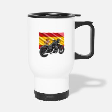 Bainderas Motorbike with the flag of Spain - Travel Mug