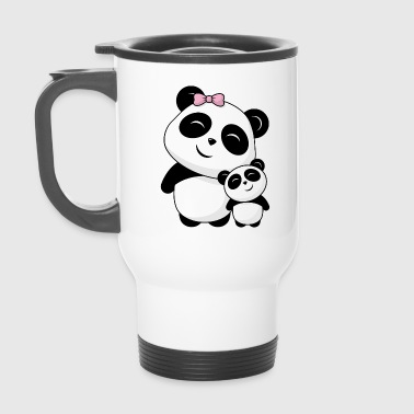 Panda siblings - Travel Mug