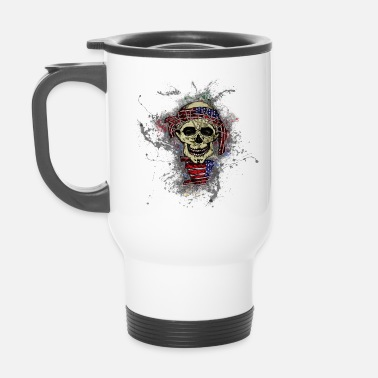 USA Death Skull Paint Splatter Art - Mug isotherme