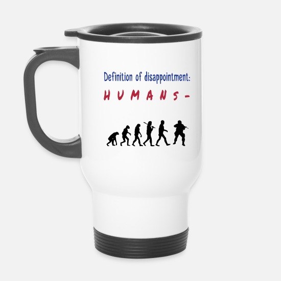 Office Humour Mugs & Drinkware - Definition: disappointment - Travel Mug white