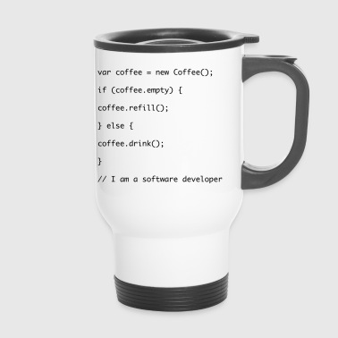 Recharge de café code Javascript - Mug thermos