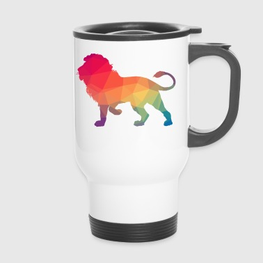 Lion Logo Polygon Bunt - Travel Mug