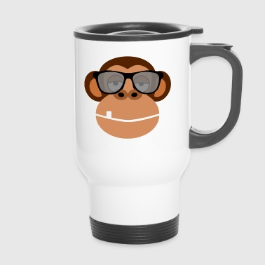Cooler Affe mit Brille - Travel Mug