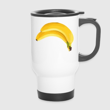 banana Why is the banana crooked? Sayings shirt - Travel Mug
