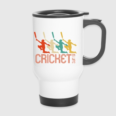 Cricket är Life Retro Pop Art Cricket Player Gifts - Termosmugg