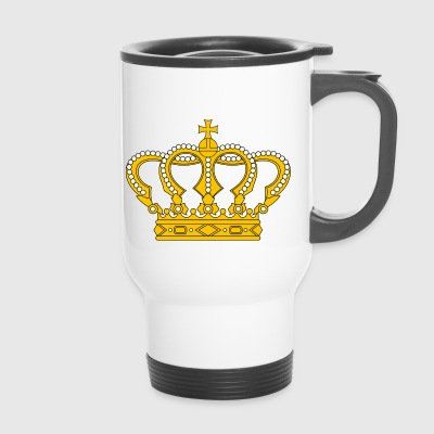 crown crown king king castle castle tower burg1 - Travel Mug