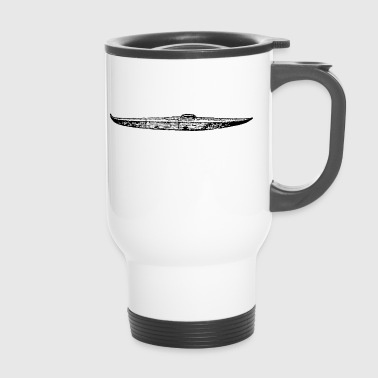canoe kayak canoe barge paddle boat rowboat11 - Travel Mug