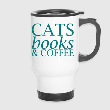 Cats Books and Coffee - Thermo mok