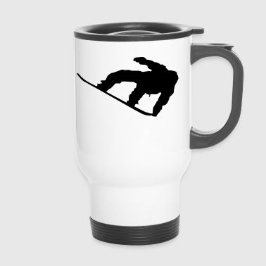 sports snowboard, - Travel Mug