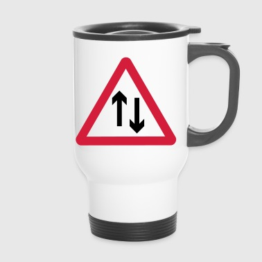 Beware of oncoming traffic - Travel Mug