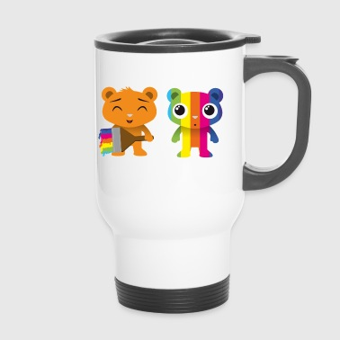 Bears painted with a brush - Travel Mug