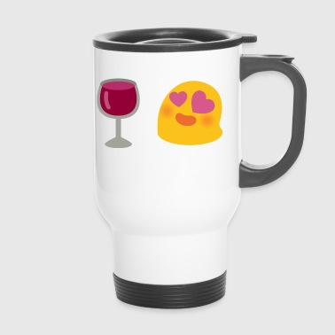 emoji Wein - Thermobecher