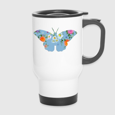 Flowered butterfly - Travel Mug