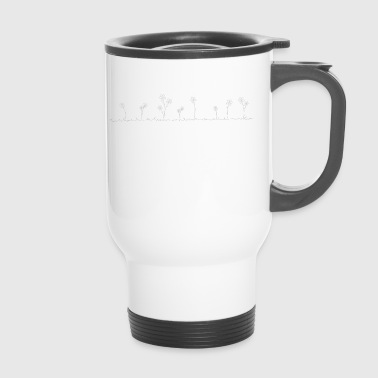 flower meadow white - Travel Mug