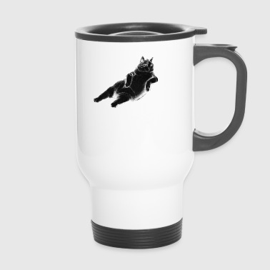 Cat sitting on sofa - Travel Mug