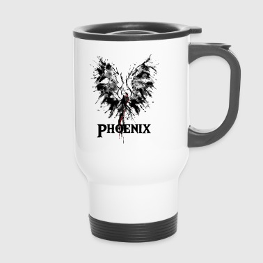 Phoenix from the ashes drawing gift idea - Travel Mug