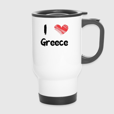 I love Greece - Travel Mug