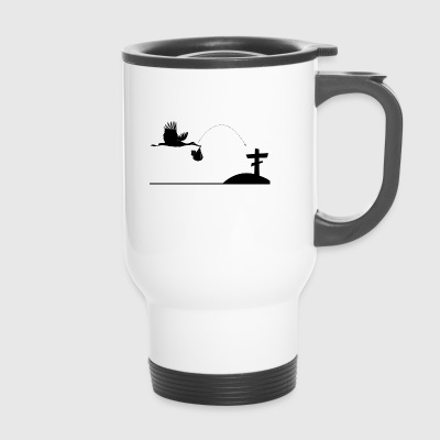 Stork from birth to dead - Travel Mug