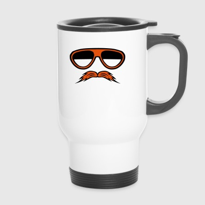 mustache sunglasses 1610 - Travel Mug