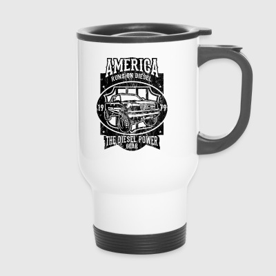 DIESEL POWER - American Car and Car Shirt Motif - Travel Mug