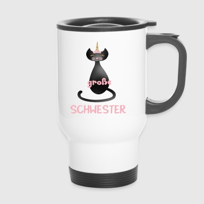 big sister cat - Travel Mug