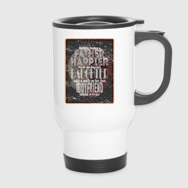 Happy father - daughter laughs - friend scared - Travel Mug