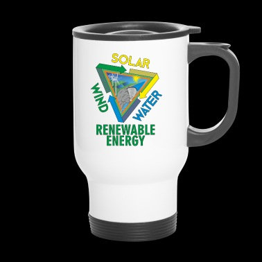 Solar Wind Water Renewable Energy Environmental Protection - Travel Mug