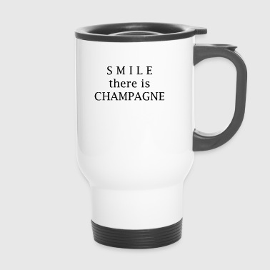 smile champagne - Thermobecher