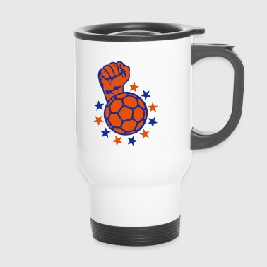 handball fist lift fist close up faust p - Travel Mug