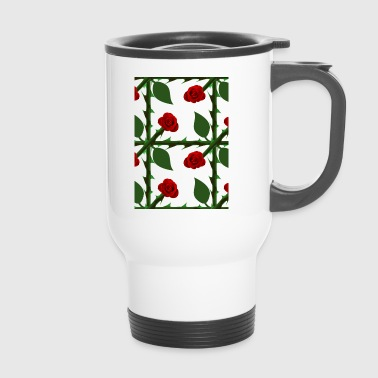 Red Rose Pattern - Travel Mug