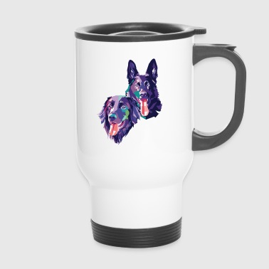Hovawart and Shepherd - Travel Mug