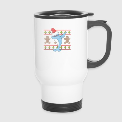 Dabbing Narwhal Ugly Shirt - Travel Mug
