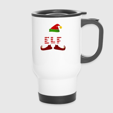 Mommy Elf Funny Christmas - Thermobecher