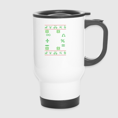 Mathematician Pi Ugly Christmas gift - Travel Mug
