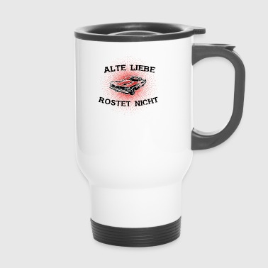 gift love not rusting year oldtimer rostf - Travel Mug