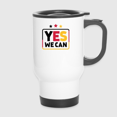 Yes we can Schwarz Rot oro Germania di calcio - Tazza termica