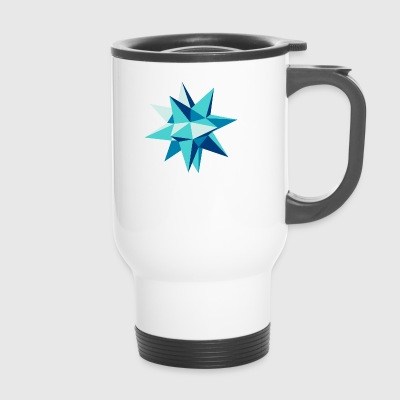 3-D star Christmas origami geometry hipster - Travel Mug