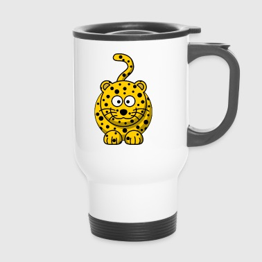 Leopard Cartoon - Travel Mug