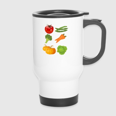 Kuerbis citrouille halloween légume vegetables180 - Mug thermos