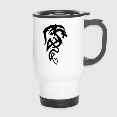 Tribal dragon - Travel Mug