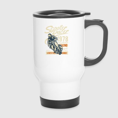 ROLLER RACER - Moped Scooter Shirt Motiv - Travel Mug