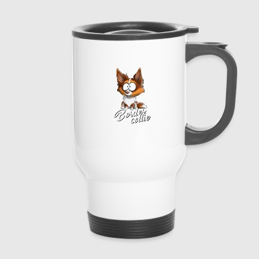 Je suis Border Collie - Rouge Tricolore FR - Mug thermos