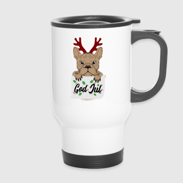regalo Bulldog Frenchie God Jul Natale - Tazza termica