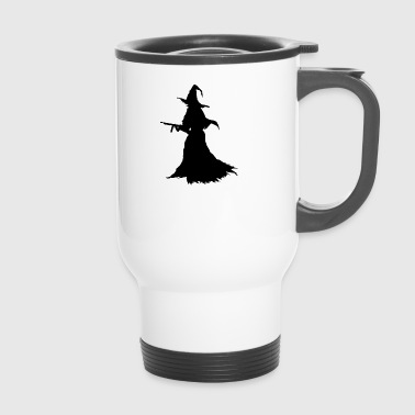 Witch with Assault Rifle / AK for Halloween - Travel Mug