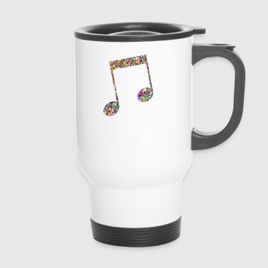 Musical note - Mosaic - Travel Mug