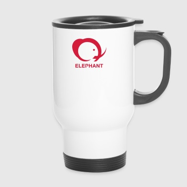 elephant logo - Travel Mug
