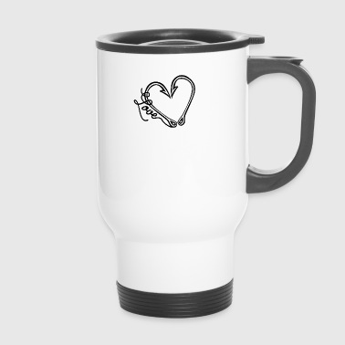 Fishhook heart - Travel Mug