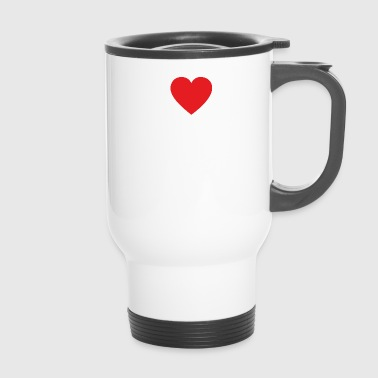 I LOVE mass WHITE - Travel Mug