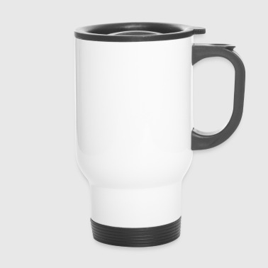Too cute to be binary white - Travel Mug