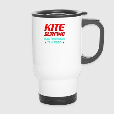 KITESURFING - PLUS DE SA PASSION MA RELIGION - Mug thermos